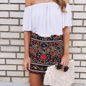 Bailey Embroidered Skirt